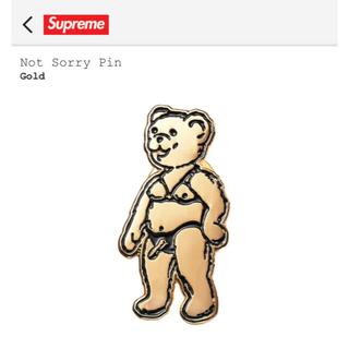 Supreme - Supreme Not Sorry Pin Gold
