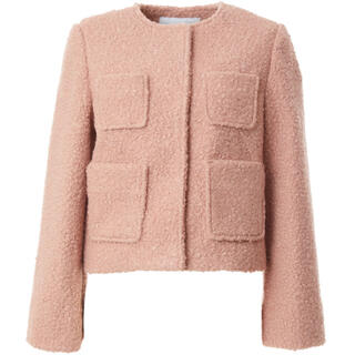 BARNEYS NEW YORK - BORDERS at BALCONY POODLE SHORT JACKET