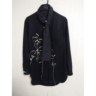 ヨウジヤマモト(Yohji Yamamoto)のヨウジヤマモト 19aw 刺繍シャツ(シャツ)