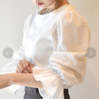ダブルクローゼット(w closet)のZOZO限定 wcloset 袖異素材テレコプルオーバー オフホワイト(カットソー(長袖/七分))