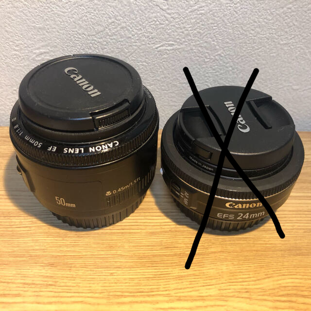 Canon(キヤノン)のCanon レンズ 単焦点 スマホ/家電/カメラのカメラ(レンズ(単焦点))の商品写真