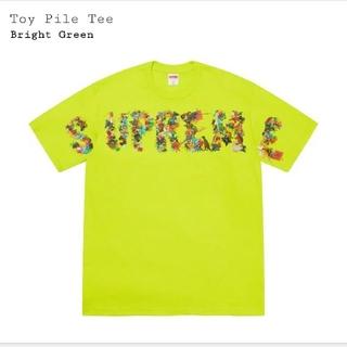 シュプリーム(Supreme)のSupreme Toy Pile Tee  L Bright Green(Tシャツ/カットソー(半袖/袖なし))