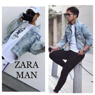 ZARA - ZARA MAN ダメージ加工 デニムジャケット カルバンクライン アルマーニ