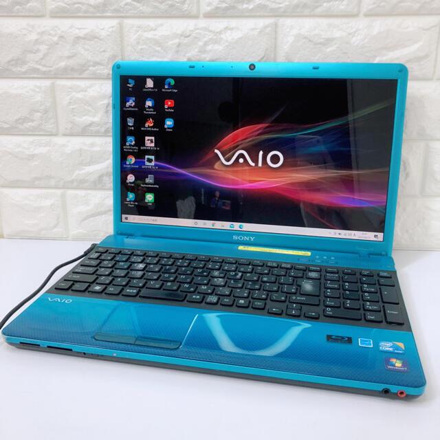 SONY(ソニー)の希少ブルー★SONYノートパソコン/VAIO/SSD/Windows10 スマホ/家電/カメラのPC/タブレット(ノートPC)の商品写真