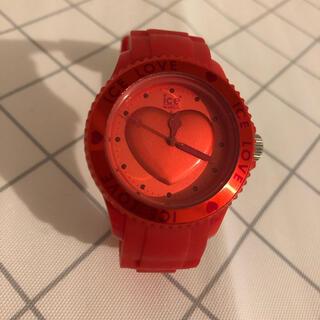 アイスウォッチ(ice watch)の【美品】♡ice watch  レッド×ハート♡(腕時計)