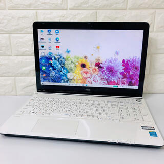 NEC - 驚速SSD★NECノートパソコン/ブルーレイ/Windows10/カメラ
