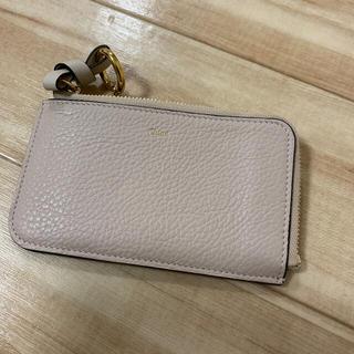 クロエ(Chloe)のクロエ カードケース カードホルダー chloe ベージュ コインケース 財布(コインケース/小銭入れ)
