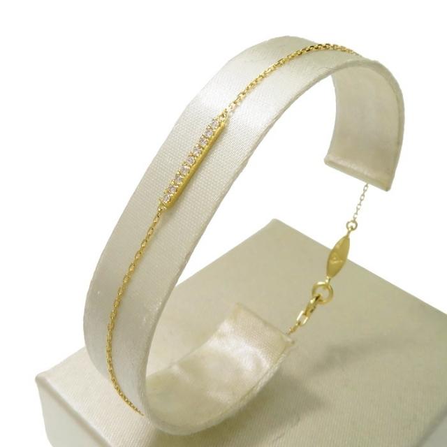 AHKAH(アーカー)のアーカー ブレスレット ティナ K18 ダイヤモンド レディースのアクセサリー(ブレスレット/バングル)の商品写真