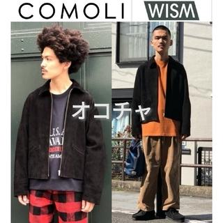 COMOLI - WISM別注 COMOLI シープスエード レザージャケット 2 ライダース 黒