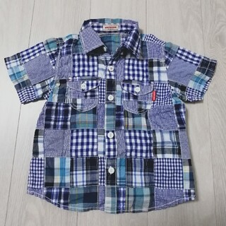 mikihouse - ミキハウス パッチワークシャツ 110cm