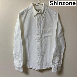 シンゾーン(Shinzone)のMIRROR OF SHINZONE シンゾーン ボタンダウン シャツ 白(シャツ/ブラウス(長袖/七分))
