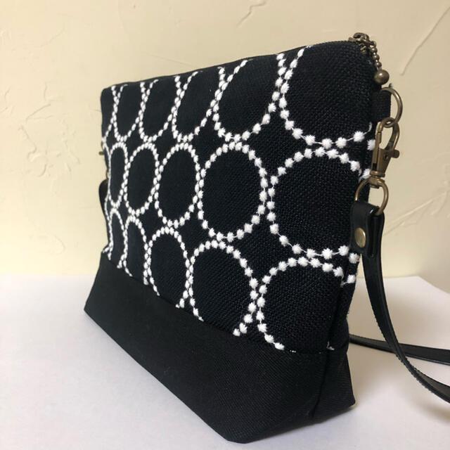mina perhonen(ミナペルホネン)のミナペルホネン  リネンタンバリンnavy ハンドメイドショルダー レディースのバッグ(ショルダーバッグ)の商品写真