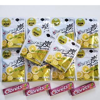 クロレッツ 炭フレッシュ レモンミント10袋  XPピンクグレープフルーツ4個(菓子/デザート)