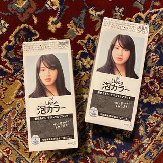 花王 - Liese 泡カラー リーゼ 髪色もどし ナチュラルブラック 黒髪用ヘアカラー