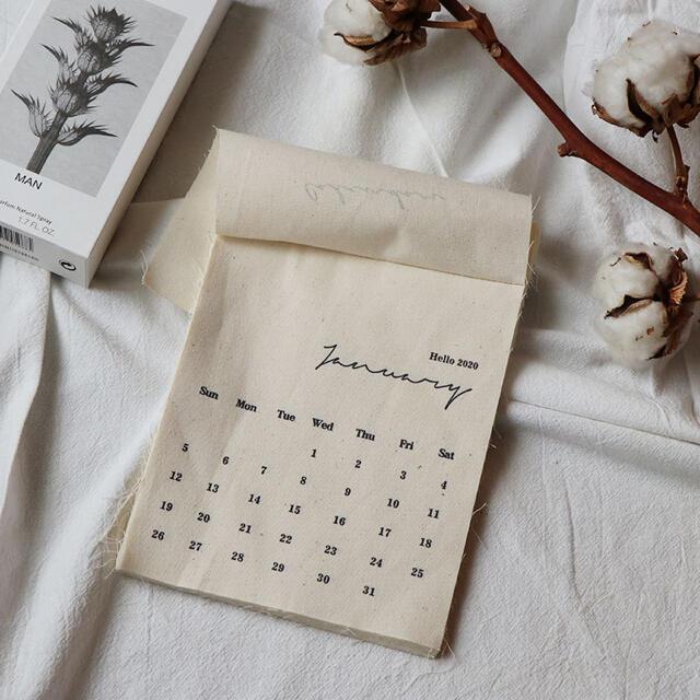 2021カレンダー 韓国雑貨 北欧雑貨 新品未使用 かわいい インテリア/住まい/日用品の文房具(カレンダー/スケジュール)の商品写真