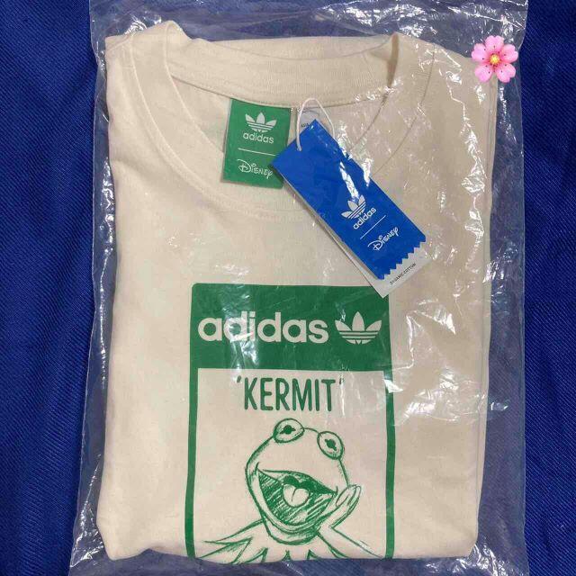 adidas(アディダス)の新品未使用 Mサイズ アディダス カーミット 半袖 Tシャツ ホワイト メンズのトップス(Tシャツ/カットソー(半袖/袖なし))の商品写真