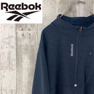 リーボック(Reebok)のリーボック ロングtシャツ 紺色 シンプルロゴ Reebok オーバーサイズ(Tシャツ/カットソー(七分/長袖))