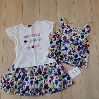 BeBe - BEBE×Tシャツ スカート ブラウス セット110 120