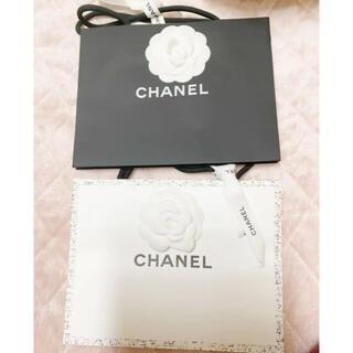 CHANEL - シャネル ショップ袋 ショッパー 中 カメリア、リボン付き
