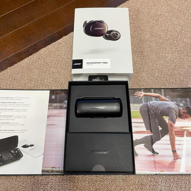 BOSE(ボーズ)のBOSE SOUNDSPORT FREE BLACK スマホ/家電/カメラのオーディオ機器(ヘッドフォン/イヤフォン)の商品写真