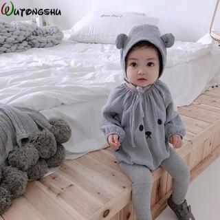 くまロンパース♡帽子セット