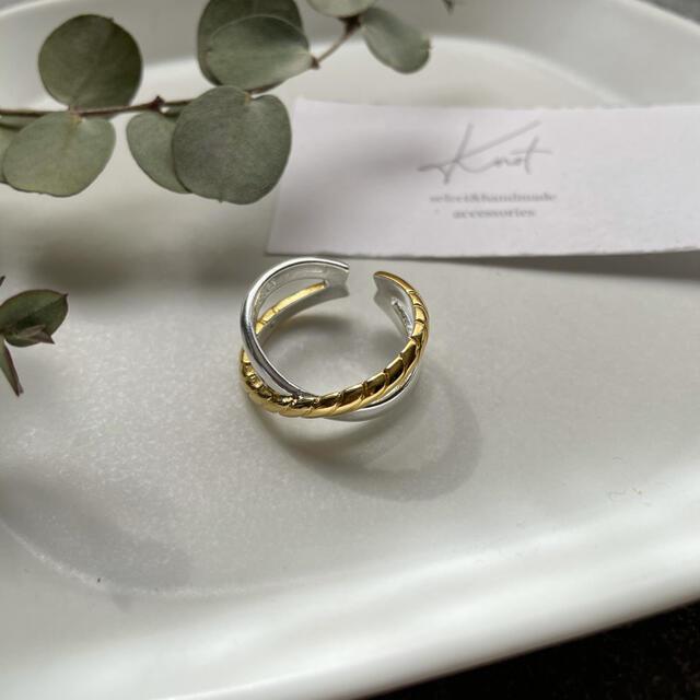 TODAYFUL(トゥデイフル)のgold×silver cross ring レディースのアクセサリー(リング(指輪))の商品写真