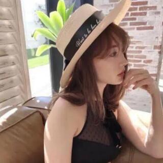 スナイデル(snidel)のHer lip to♡ストローハット(麦わら帽子/ストローハット)