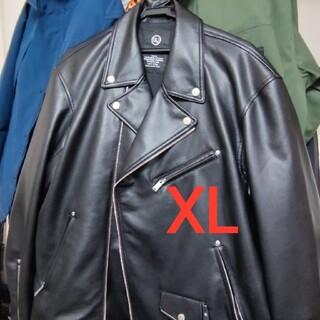 ジーユー(GU)の【Lと交換可】GU x UNDERCOVER フェイクレザージャケット(ライダースジャケット)