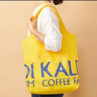 カルディ(KALDI)のKALDI エコバッグ イエロー(エコバッグ)