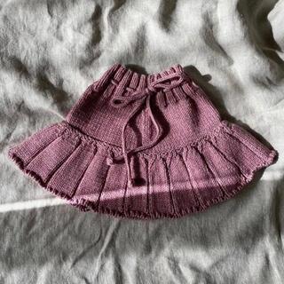 Caramel baby&child  - ニットスカート ローズピンク 2-3y