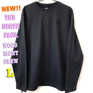 ザノースフェイス(THE NORTH FACE)の厚生地 刺繍ロゴ ♪ ノースフェイス ヘビーウェイト ロンT 黒 シンプル(Tシャツ/カットソー(七分/長袖))