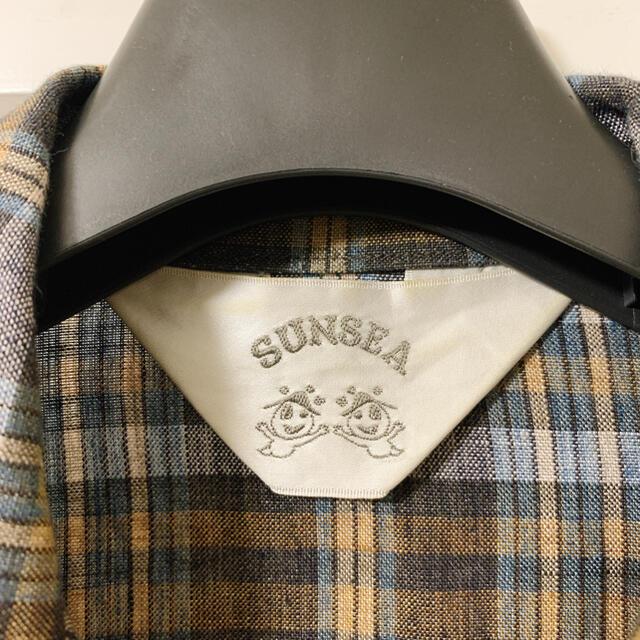 SUNSEA(サンシー)のSUNSEA 19SS SPEC LINEN CHECK SHIRT サイズ1 メンズのトップス(シャツ)の商品写真