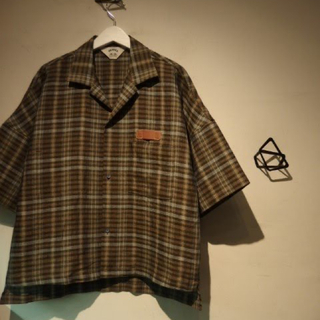 SUNSEA - SUNSEA 19SS SPEC LINEN CHECK SHIRT サイズ1
