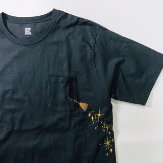 Design Tshirts Store graniph - デザインティーシャツストアグラニフ Tシャツ レディース ブラック 古着 半袖