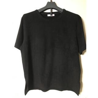 Discoat - ディスコートスエードタッチTシャツサイズL  ブラック