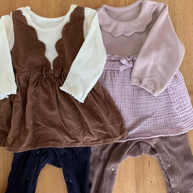 女の子服 70サイズ キッズ/ベビー/マタニティのベビー服(~85cm)(ロンパース)の商品写真