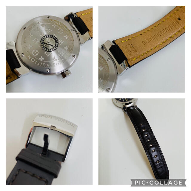 LOUIS VUITTON(ルイヴィトン)の✴︎稼働品 ルイヴィトン タンブール Q1311 腕時計 ブラウン デイト付 レディースのファッション小物(腕時計)の商品写真
