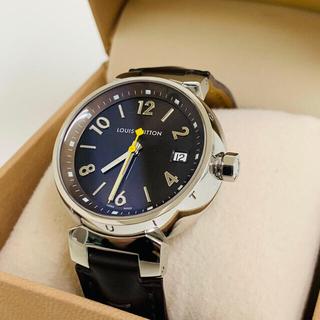 LOUIS VUITTON - ✴︎稼働品 ルイヴィトン タンブール Q1311 腕時計 ブラウン デイト付