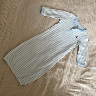 ベビーギャップ(babyGAP)の新品babygapくまちゃん刺繍ボーダー長肌着60(肌着/下着)