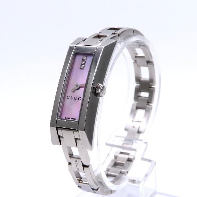 Gucci(グッチ)の【GUCCI】グッチ 時計 'Gリンク' ダイヤモンド ピンクシェル ☆美品☆ レディースのファッション小物(腕時計)の商品写真
