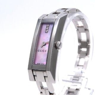 グッチ(Gucci)の【GUCCI】グッチ 時計 'Gリンク' ダイヤモンド ピンクシェル ☆美品☆(腕時計)