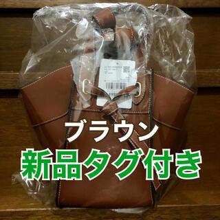 ヴィス(ViS)の【新品タグ付き】ViS フロントタイバッグ ブラウン(ショルダーバッグ)