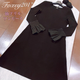 FOXEY - ご予約品です✨フォクシー FOXEY ワンピース 上品フリル袖ワンピース♪40