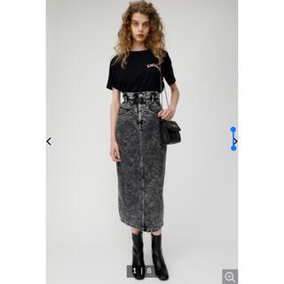 moussy - moussy ギャザーハイウエストケミカルスカート