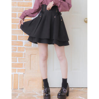 ROJITA - 美品★新作★ロジータ ウエストWスピンドルフレアスカート 黒★