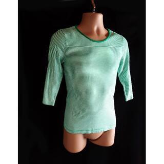 アバハウス(ABAHOUSE)の美品 ABAHOUSE ボーダー柄 Tシャツ アバハウス(Tシャツ/カットソー(半袖/袖なし))