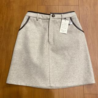 シマムラ(しまむら)のゴウヒパイピングスカート Lサイズ 淡肌色(ミニスカート)