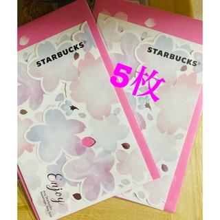 スターバックスコーヒー(Starbucks Coffee)の♡︎ʾʾスターバックス ドリンクチケット 5枚 ♡︎ʾʾ(フード/ドリンク券)
