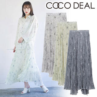 COCO DEAL - COCO DEAL フラワープリーツスカート