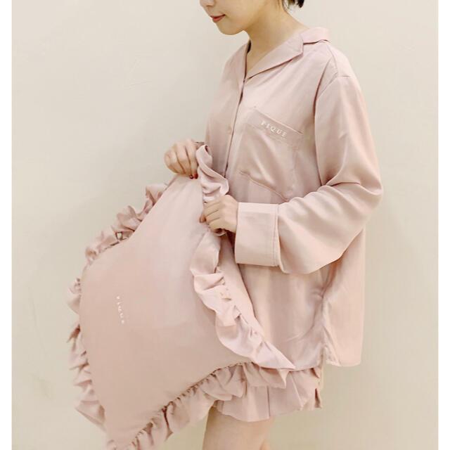 gelato pique(ジェラートピケ)の新品♡定価以下♡ジェラートピケ サテンシャツ&ショートパンツ フリル ピンク レディースのルームウェア/パジャマ(ルームウェア)の商品写真
